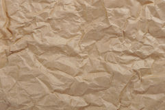 Brown crumpled paper Royalty Free Stock Image