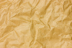 Brown crumpled paper sheet Royalty Free Stock Image