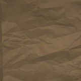 Brown crumpled paper sheet texture Royalty Free Stock Photos