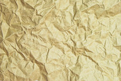 Brown crumpled paper texture. Brown crumpled paper background texture royalty free stock photo