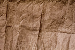 Brown crumpled paper texture Stock Photo