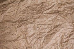 Brown crumpled paper texture Stock Photos