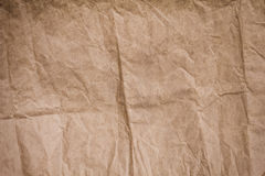 Brown crumpled paper texture Royalty Free Stock Photo