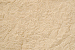 Brown crumpled paper texture. Stock Image