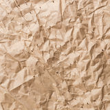 Brown crumpled paper texture and background Stock Image