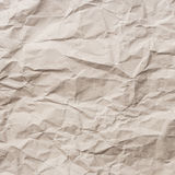 Brown crumpled paper texture and background Stock Images