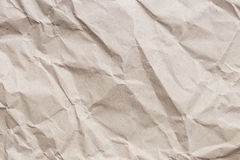 Brown crumpled paper texture and background Royalty Free Stock Image