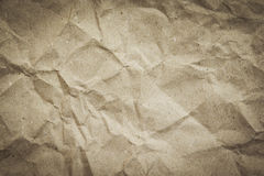 Brown crumpled paper. Texture for background  design Royalty Free Stock Photography