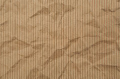 Brown crumpled paper useful as a background Royalty Free Stock Image
