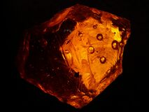 Brown Crystal Fragment Stock Photo