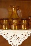 Brown Crystal Glassware fotos de stock