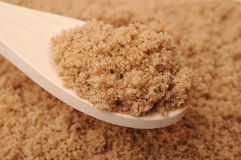 Brown crystal sugar Royalty Free Stock Photo