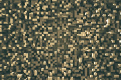 Brown cube background Royalty Free Stock Photos