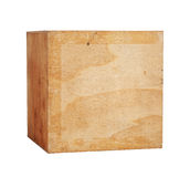Brown cube Stock Photography