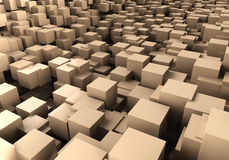 Brown cubes Stock Photo