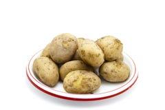 Brown cuit frais Potatos Image stock