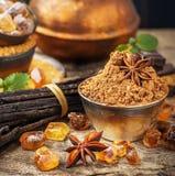 Brown cukier zdjęcia stock