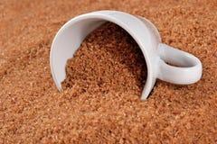Brown cukier w filiżance Fotografia Royalty Free