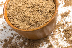 Brown cukier w puchar zdjęcia royalty free