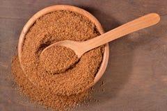 Brown cukier w pucharze Zdjęcie Royalty Free