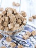 Brown cukier (zakończenie strzelający) Zdjęcie Stock