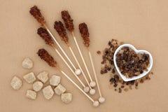 Brown cukieru wybór Fotografia Stock