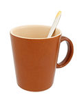 Brown cup Stock Photography