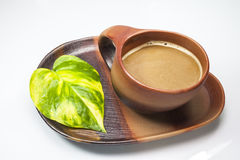 Brown cup of coffe Stock Image
