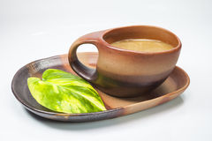 Brown cup of coffe Stock Images