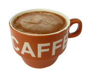 Brown cup of coffee Royalty Free Stock Image