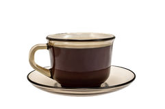 Brown cup of coffee Royalty Free Stock Photo