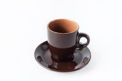 Brown cup of coffee Stock Photography