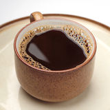 Brown cup of coffee Royalty Free Stock Images
