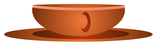 Brown cup on saucer Royalty Free Stock Photos