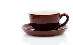 Brown cup of tea or coffee Stock Photo