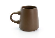 Brown cup on a white background Stock Photography