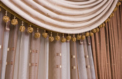 Brown curtain background Royalty Free Stock Photography