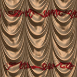 Brown curtain with pattern Stock Photography