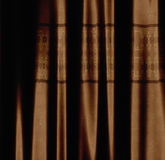 Brown curtain with pattern Royalty Free Stock Photos