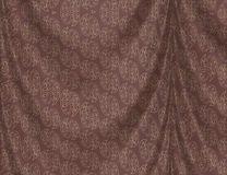 Brown curtain with pattern Royalty Free Stock Images