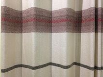 Brown curtain Stock Photo