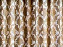 The Brown curtain Royalty Free Stock Photos