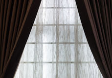 Brown curtain Royalty Free Stock Images
