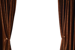 Brown curtain Royalty Free Stock Photo