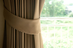 Brown curtain Stock Photo