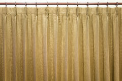 Brown curtains stock image