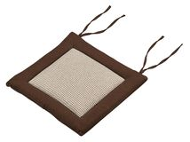 Brown cushion. Home, puffy. Stock Photography