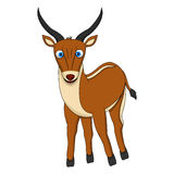 Brown Cute Antelope with smile Royalty Free Stock Image