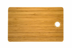Brown cutting board isolated on white background Stock Image