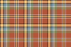 Brown czeka żółta szkocka krata pixeled bezszwowa tekstura Obraz Stock